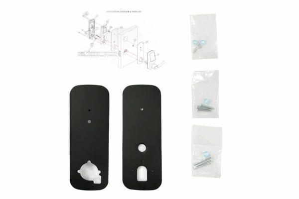 Lockly Deadbolt Cover Plate Accessory Matte Black
